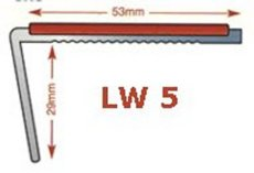 LW5  - Standard drilled aluminium stair nosing in mill finish 3.5mm gauge - ideal for light traffic areas